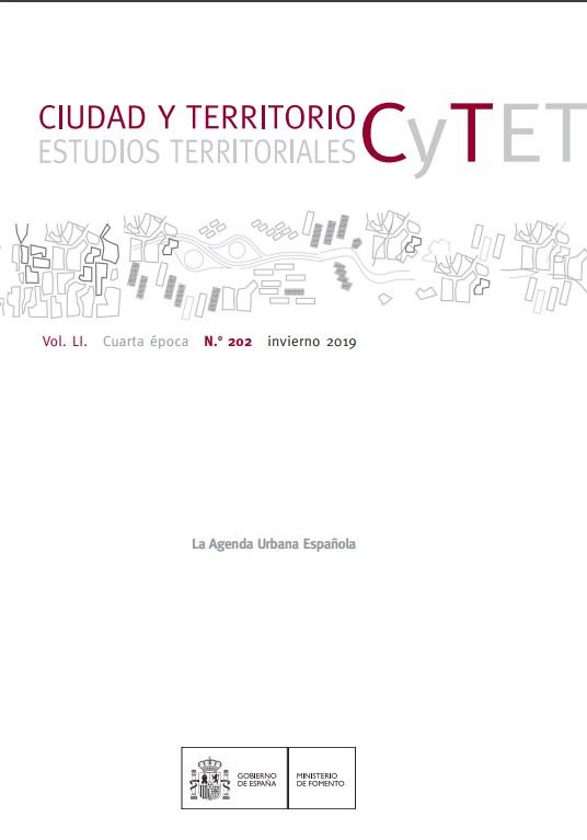 Cubierta de Ciudad y Territorio : Estudios Territoriales