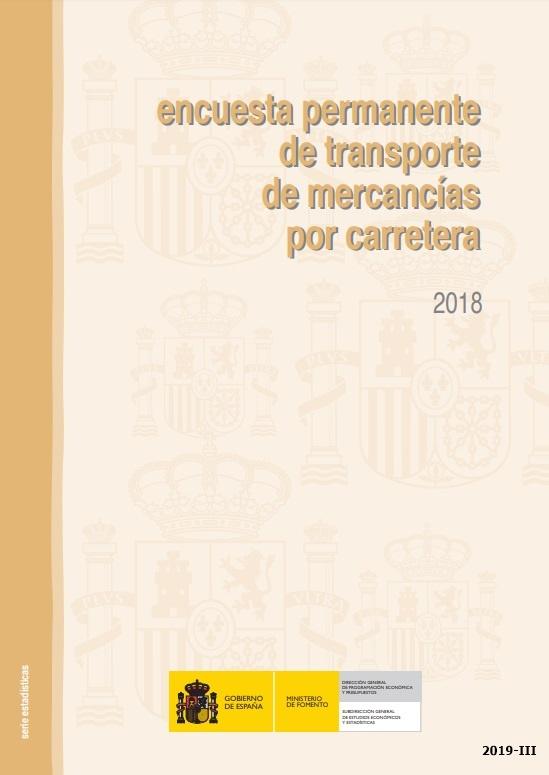Cubierta de Encuesta Permanente de Transporte de Mercancías por Carretera