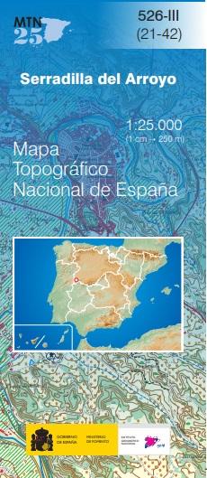 Cubierta de Serradilla del Arroyo (Mapa topográfico nacional MTN25)