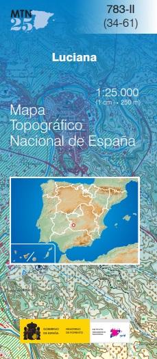Cubierta de Luciana (Mapa topográfico nacional MTN25)