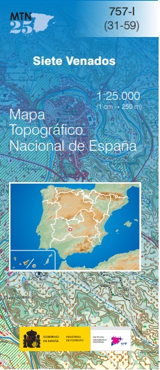 Cubierta de Siete Venados (Mapa topográfico nacional MTN25)