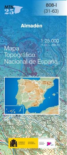 Cubierta de Almadén (Mapa topográfico nacional MTN25)