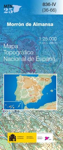 Cubierta de Morrón de Almansa (Mapa topográfico nacional MTN25)