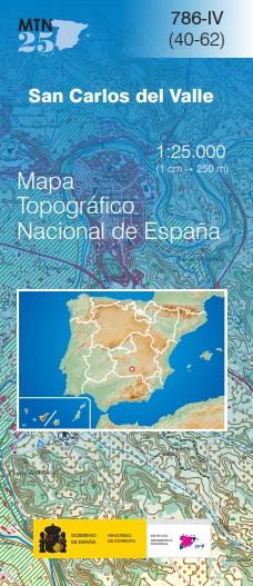 Cubierta de San Carlos del Valle (Mapa topográfico nacional MTN25)