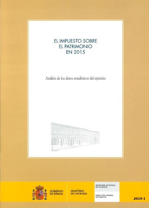 Cubierta de El Impuesto sobre el Patrimonio. Análisis de los Datos Estadísticos del Ejercicio
