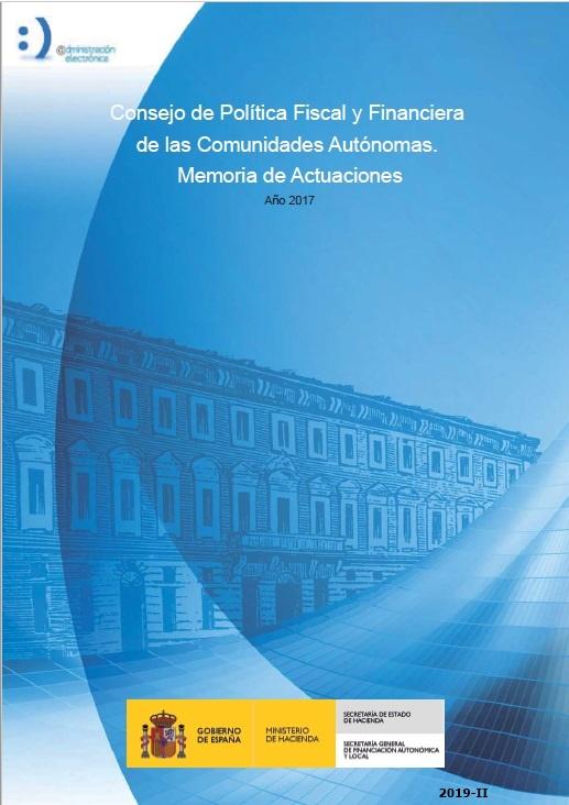 Cubierta de Consejo de Política Fiscal y Financiera de las Comunidades Autónomas : Memoria de Actuaciones