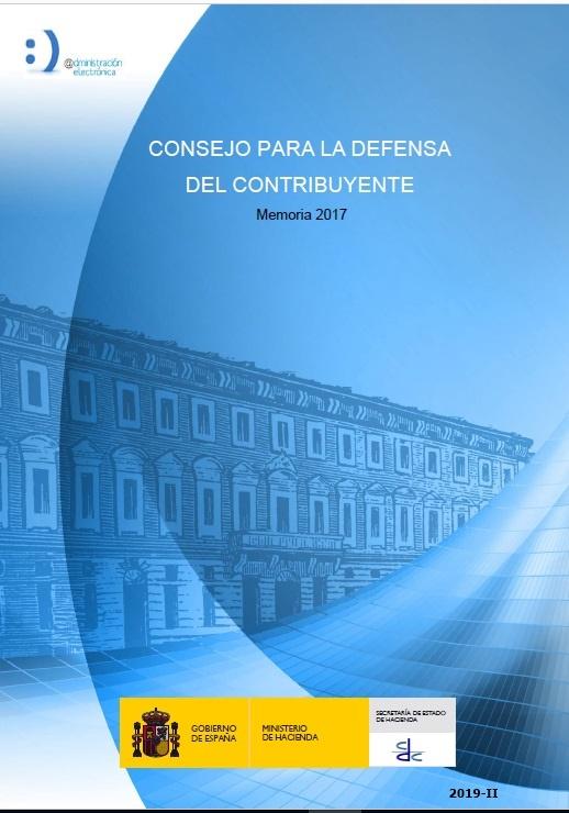 Cubierta de Consejo para la Defensa del Contribuyente. Memoria