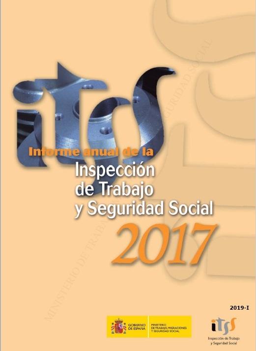 Cubierta de Informe Anual de la Inspección de Trabajo y Seguridad Social