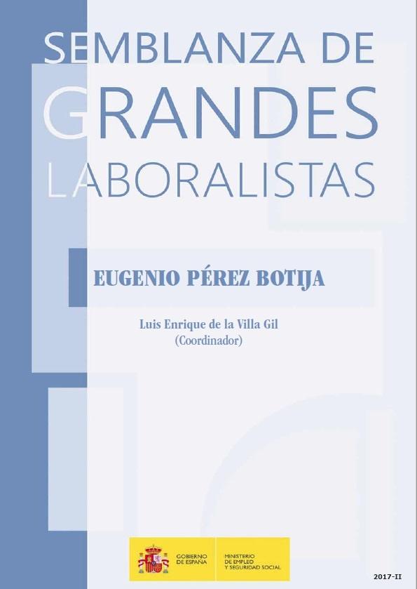 Cubierta de Eugenio Pérez Botija