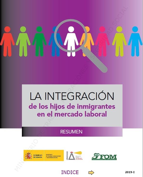 Cubierta de La integración de los hijos de los inmigrantes en el mercado laboral: resumen