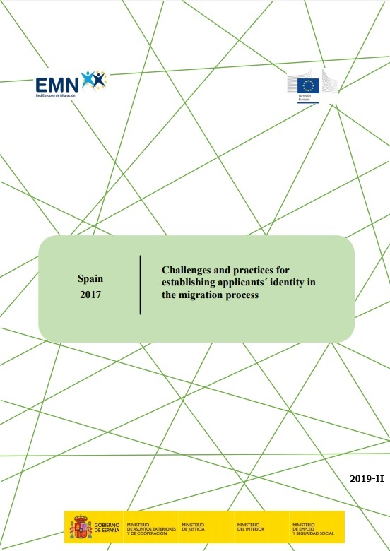 Cubierta de Challenges and practices for establishing applicants' identity in the migration process: Spain 2017