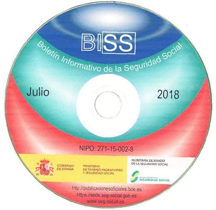 Cubierta de Boletín Informativo de la Seguridad Social
