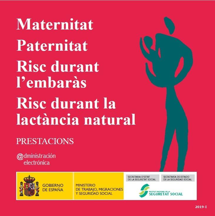 Cubierta de Maternitat. Paternitat. Risc durant l'embaràs. Risc durant la lactància natural