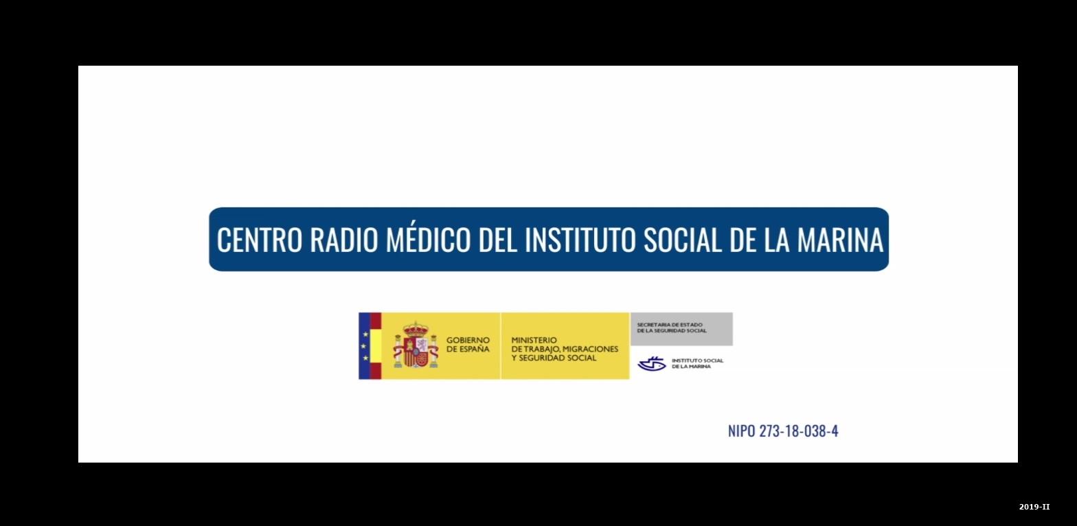 Cubierta de Centro radio médico del Instituto Social de la Marina [Videograbación]