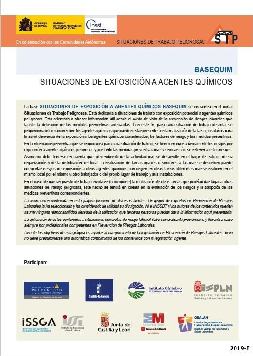 Cubierta de BASEQUIM: situaciones de trabajo peligrosas : [exposición potencial a agentes químicos peligrosos]