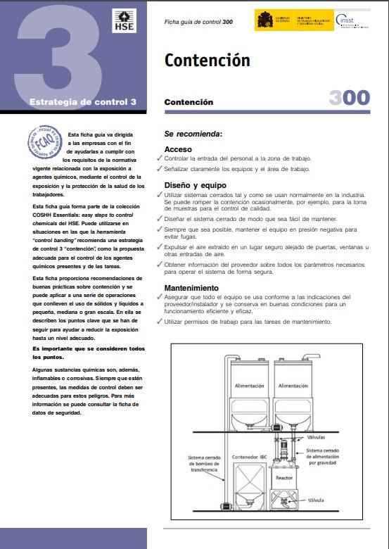 Cubierta de Contención (Fichas Control para Agentes Químicos (FCAQ))