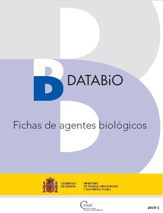 Cubierta de DATABIO: fichas de agentes biológicos