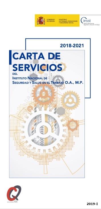 Cubierta de Carta de servicios del Instituto Nacional de Seguridad y Salud en el Trabajo O.A., M.P.: 2018-2021
