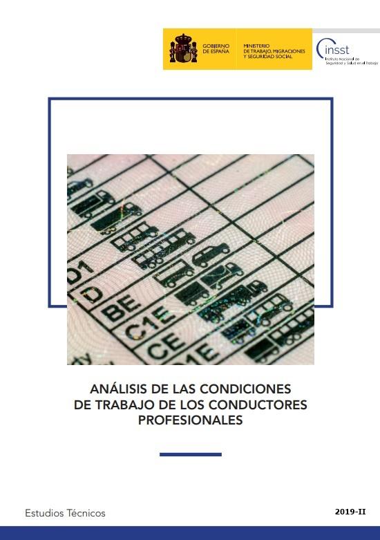 Cubierta de Análisis de las condiciones de trabajo de los conductores profesionales