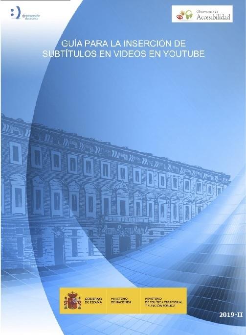 Cubierta de Guía para la inserción de subtítulos en videos de YouTube