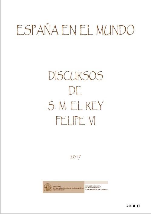 Cubierta de España en el Mundo : Discursos de S.M. el Rey Felipe VI