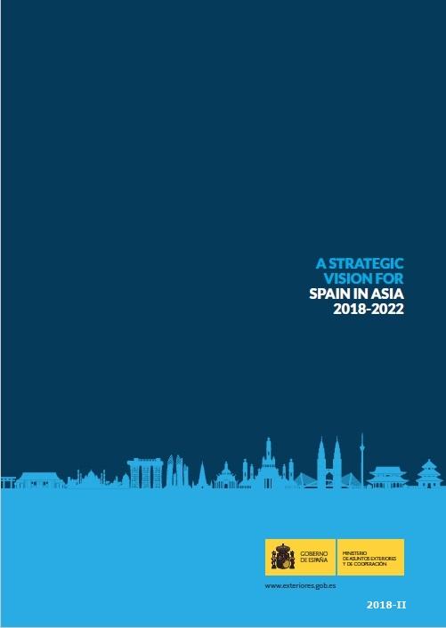 Cubierta de A strategic vision for Spain in Asia 2018-2022