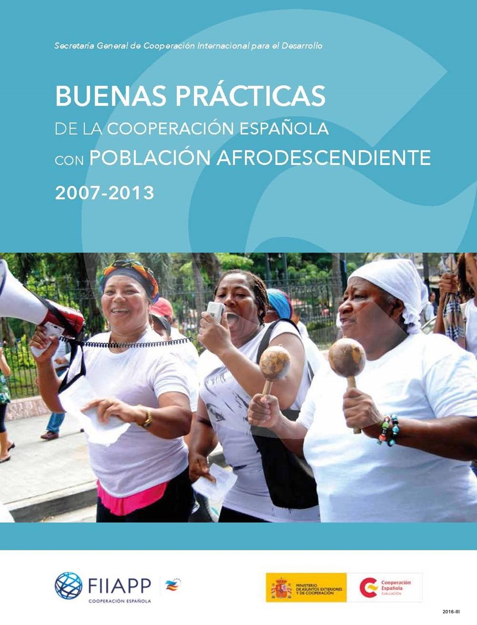 Cubierta de Buenas prácticas de la cooperación española con población afrodescendiente 2007-2013