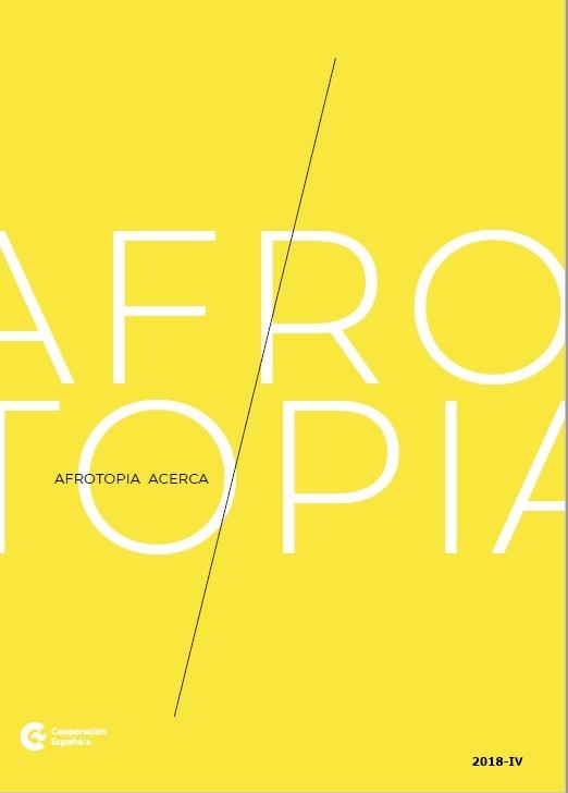 Cubierta de Afrotopía ACERCA