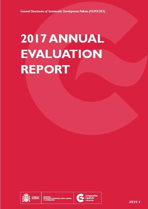 Cubierta de Annual evaluation report: 2017