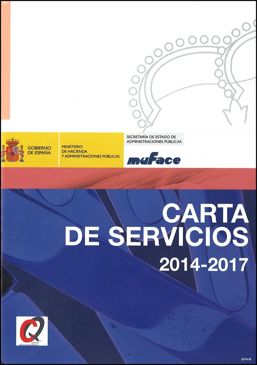 Cubierta de Carta de servicios de MUFACE: 2014-2017