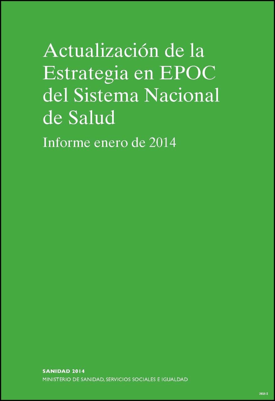 Cubierta de Actualización de la estrategia en EPOC del sistema nacional de salud: informe enero 2014