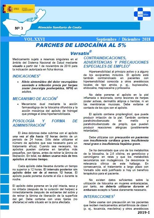 Cubierta de Boletín Informativo Farmacoterapéutico : Atención Sanitaria de Ceuta