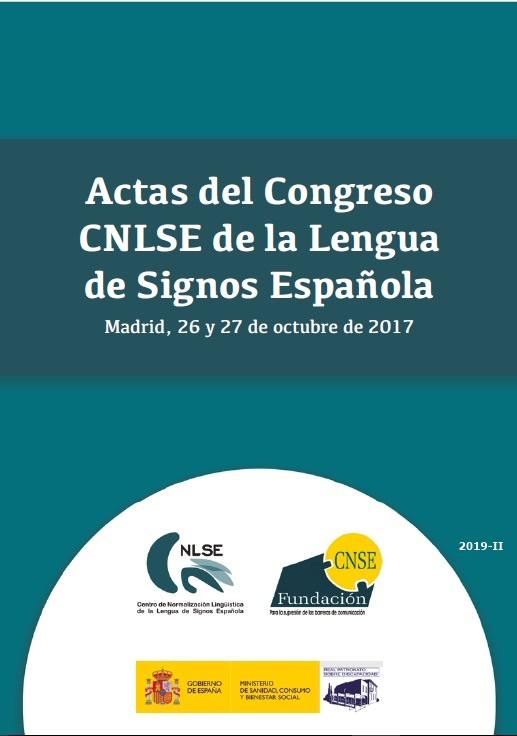 Cubierta de Actas Congreso CNLSE de la Lengua de Signos Española 2017