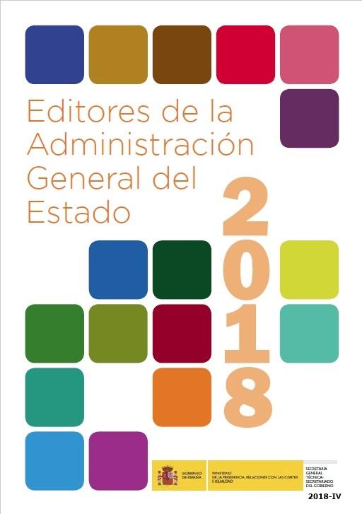 Cubierta de Editores de la Administración General del Estado 2018