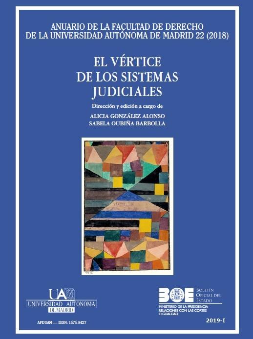 Cubierta de Anuario de la Facultad de Derecho de la Universidad Autónoma de Madrid