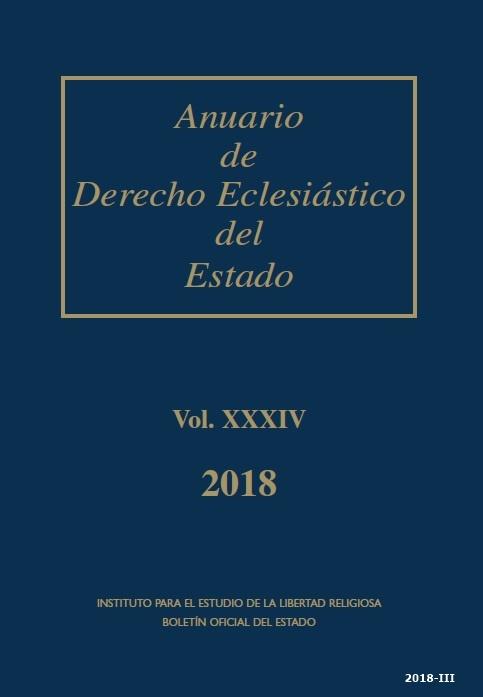 Cubierta de Anuario de Derecho Eclesiástico