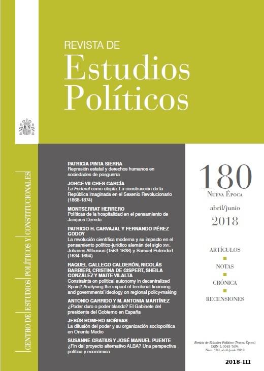 Cubierta de Revista de Estudios Políticos