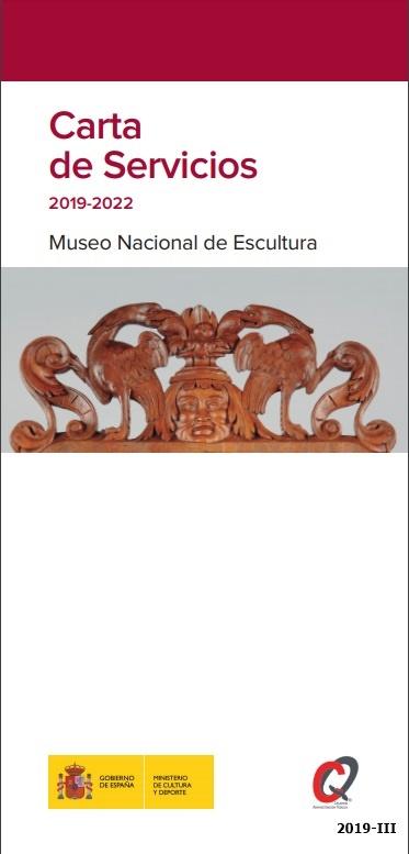 Cubierta de Carta de servicios 2019-2022: Museo Nacional de Escultura (Cartas de Servicios del Ministerio de Cultura y Deporte)
