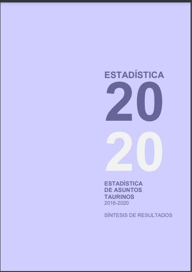 Cubierta de Estadística de Asuntos Taurinos : Síntesis de Resultados