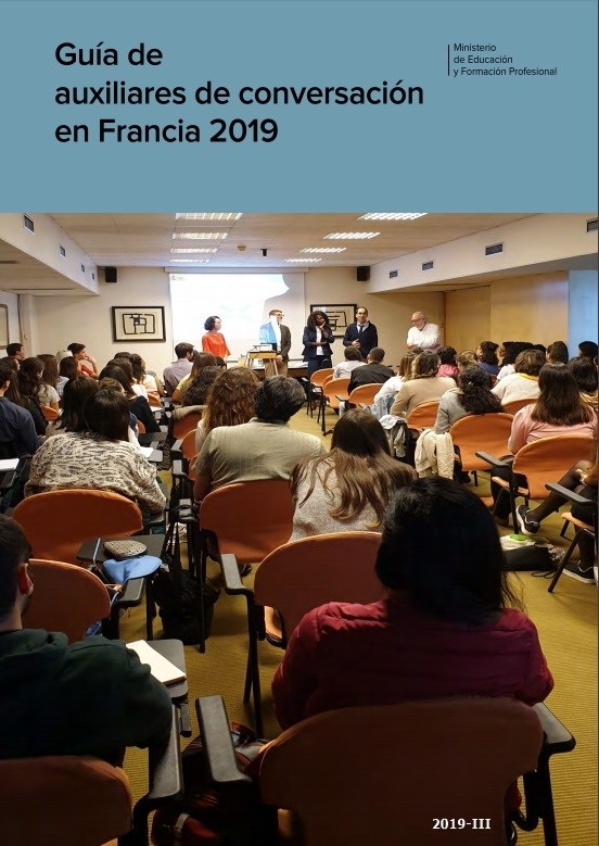 Cubierta de Guía de auxiliares de conversación en Francia 2019