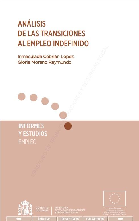 Cubierta de Análisis de las transiciones hacia el empleo indefinido