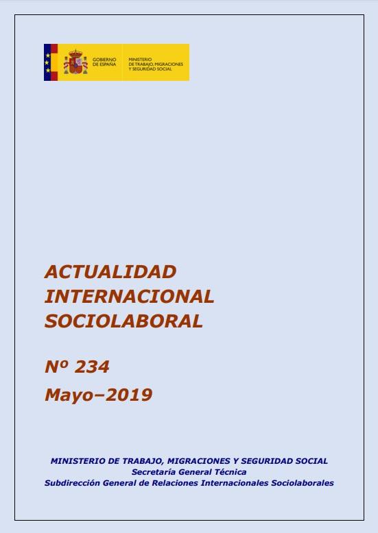 Cubierta de Actualidad Internacional Sociolaboral