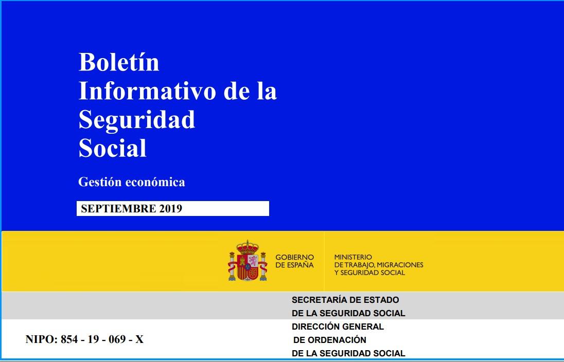 Cubierta de Boletín Informativo de la Seguridad Social : Gestión Económica