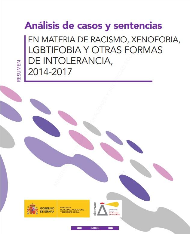 Cubierta de Análisis de casos y sentencias en materia de racismo, xenofobia, lgbtifobia y otras formas de intolerancia: 2014-2017